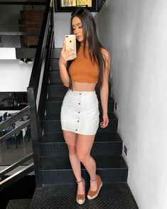 stylish summer outfits to wear now 49 Mode Outfits, Grunge Outfits, Classy Outfits, Skirt Outfits, Casual Outfits, Beautiful Outfits, Trendy Fashion, Girl Fashion, Fashion Outfits
