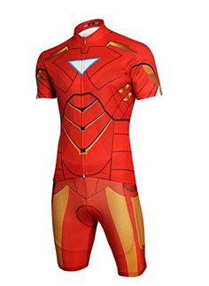 Men's Cycling Shorts - Jackcsale Mens Cycling Jersey SuperHero Jersey and Pants Set *** You can find out more details at the link of the image.
