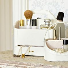 Cream Make-Up Caddy in jewellery boxes and makeup caddies at the home of creative kitchenware, Lakeland