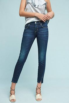 AMO Twist Mid-Rise Skinny Ankle Jeans