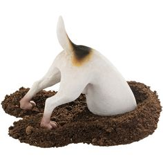 Design Toscano Terrence the Terrier Digging Dog Figurine ($39) ❤ liked on Polyvore featuring animals and dog