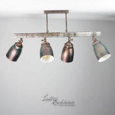 Raffinierte Deckenleuchte 2x E27 Shabby Vintage Deckenlampe Küche ...