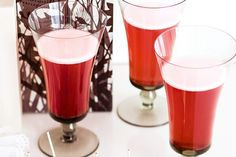 Go traditional this Christmas with a sweet cocktail of pomegranate juice and sparkling wine. Pomegranate Cocktails, Pomegranate Juice, Sweet Cocktails, Cocktail Recipes, Sparkling Wine, Pint Glass, Yummy Food, Tableware, Christmas
