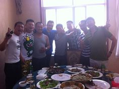 Lunch with friends, Qixia 2013