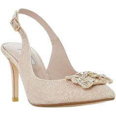 Dune Daphnie Jewel Slingback Court Shoes , Blush (2 630 UAH) ❤ liked on Polyvore featuring shoes, pumps, blush, stiletto pumps, low pumps, high heel stilettos, pointed toe high heel pumps and flat pumps