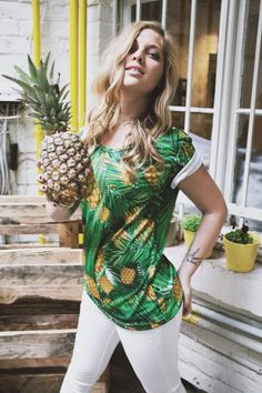 Pineapple Palms Ananas Palmen Tropical Shirt