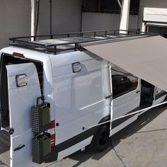 This is what I am thinking for roof rack :) Cargo Van Conversion, Sprinter Van Conversion, Camper Conversion, Ford Transit, Transit Camper, Mercedes Sprinter Camper Van, Sprinter Rv, Van Interior, Camper Interior