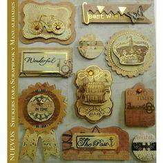 Planillas de #Stickers tipo ingles. Ideales para #scrapbook y #manualidades. Pídelos con las claves: DJS 102-B