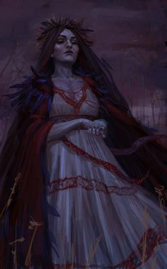 Morena, Slavic goddess of death. I hate to say it, but this picture bears a striking resemblance to my mother...only not as scary.