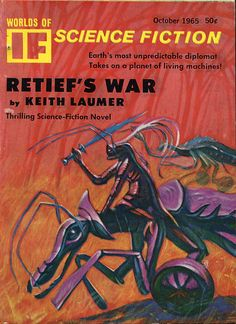 scificovers:  Alien bugs on bikebugs!  Worlds of If...