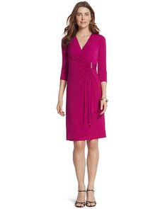 I like the cut of this one. This would be fun for rehearsal dinner and real life. It can easily be dressed up or down. :-) Chico's Bethany Dress #chicos