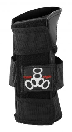 "TRIPLE 8 WRISTSAVER WRIST BRACE • Just 5"" in length• Padded Kevlar® palm • Neoprene body with terry cloth lining for a secure comfortable fit • Thick support strap that wraps around entire wrist • Replaceable plastic back splint for increased wrist protection • Ideal for skateboarding, inline skating (roller blading), and roller derby"