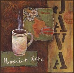Coffees of the World - Hawaii by Diane Knowles art print