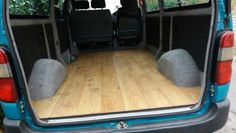 Toyota hiace wood flooring camper conversion