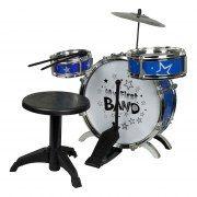 Drumstel Met Krukje Blauw