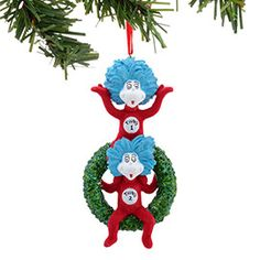 Department 56:  Thing 1 & Thing 2 On Wreath