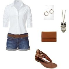 I have this outfit. Need sandals to match my belt... and a matching clutch!