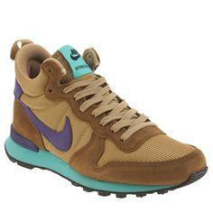 Womens Light Brown Nike Internationalist Mid Trainers | schuh