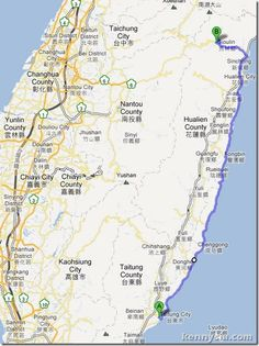 Apparently you can cycle through the East Coast of Taiwan!
