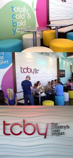 new TCBY store design! fun and healthy frozen yogurt !