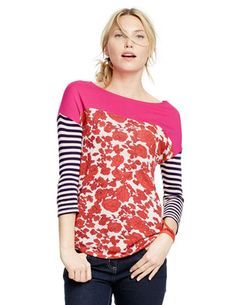 Hotchpotch Tee http://www.boden.co.uk/en-GB/Womens-Tops-T-shirts/3_4-Sleeved-Tops/WL837/Womens-Hotchpotch-Tee.html?NavGroupID=18