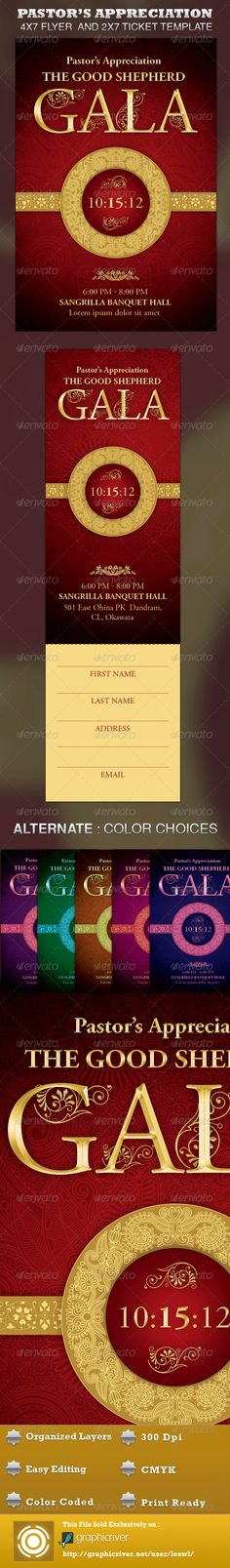 Elegant Anniversary Gala Ticket Template Pastor anniversary - create a ticket template