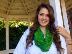 Light weight kelly green infinity scarf on Etsy, $12.00
