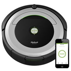 Connect to clean from anywhere with the Roomba® 690 robot vacuum. The patented 3-Stage Cleaning System is specially engineered to loosen, lift, and suction everything from small particles to large debris from carpets and hard floors. Dirt Detect™ sensors alert the Roomba robot vacuum to clean more thoroughly on concentrated areas of dirt. Just press Clean or schedule Roomba on the go with the iRobot HOME App.