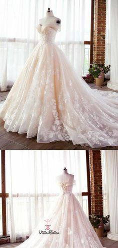 Gorgeous Off Shoulder Ivory Lace Up Ball Gown Lace Wedding Dresses With Trailing, Wedding Dresses, Gorgeous Off Shoulder Ivory Lace Up Ball Gown Lace Wedding Dresses With Trailing, Wedding Dresses, - wedding dress Country Wedding Dresses, Long Wedding Dresses, Princess Wedding Dresses, Colored Wedding Dresses, Lace Wedding, Fantasy Wedding Dresses, Dream Wedding, Wedding Gowns, Wedding Venues