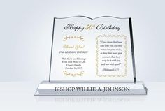 Religious Pastor Birthday Gift - Crystal Central Mobile
