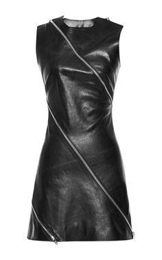 Paneled Dress With Diagonal Zip Detail by Alexander Wang for Preorder on Moda Operandi