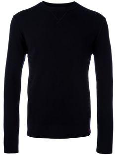 EMPORIO ARMANI ribbed trim sweatshirt. #emporioarmani #cloth #sweatshirt