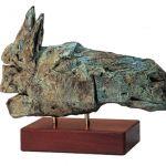 Cap II - Bronze - 16.5x24x13cm //  Horse head II - Bronze