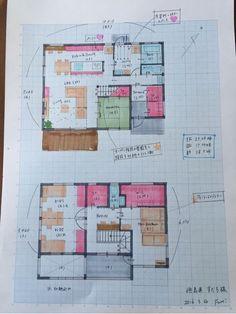【38坪】サーフィンが趣味!洗濯動線のよいエントランスクローク、納戸付き4LDK の画像|♡Fumi 's Blog♡30から建築士を目指すワーママブログ Future House, My House, Craftsman Floor Plans, Merchandising Displays, Japanese House, House Layouts, Pool Houses, House Plans, New Homes