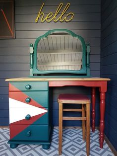 Be inspired by some of our favourite items of painted furniture that have left the Orange Otter workshop. Refinished Furniture, Painted Furniture, Better Day, Dressing Table, Otter, Color Splash, Interior Inspiration, Triangle, Pure Products
