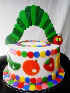 The Very Hungry Caterpillar cake Pretty Cakes, Cute Cakes, Beautiful Cakes, Amazing Cakes, Cupcake Cake Designs, Cupcake Icing, Cupcake Cakes, Hungry Caterpillar Cake, Movie Cakes