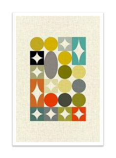 PALETTE no.3 Giclee Print Mid Century Modern Danish от Thedor