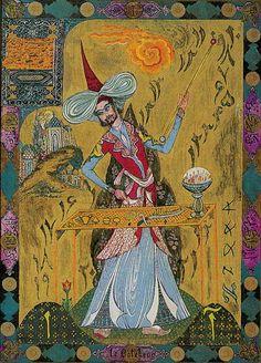 magician tarot card   Kazanlar Tarot - The Magician