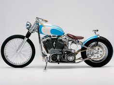 Blue Bobber motorcycle....the coolness goes on and on with this ride!!