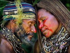 "A couple in the central highlands of Papua New Guinea share an intimate moment during a courtship ritual. Photographer Timothy Allen was named a runner-up in the ""Exotic"" category. We Are The World, People Around The World, Art Magique, Portraits, Photography Contests, Film Photography, Street Photography, Landscape Photography, Nature Photography"