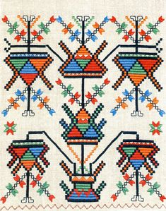 Ukranian embroidery: the images are from one of several publications on Ukrainian folk art from RODOVID Press in Kyiv. For more info and other beautiful images see: http://www.rodovid.net/e_catalog.html.