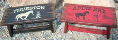 Child stool kid's stool bathroom stool wood by WorkHorseFurniture