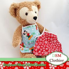 "Snow Much Fun! Reversible Apron for Disney's 17"" Duffy and Shellie May Plush Bears"