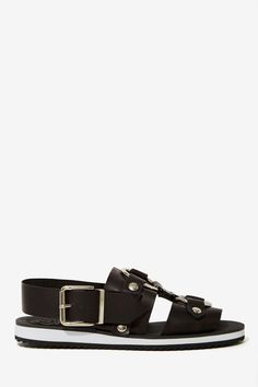 Jeffrey Campbell Trabuco Leather Sandals at Nasty Gal