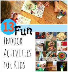 13 Fun Indoor Activities for Kids from @ArtfulParent!!