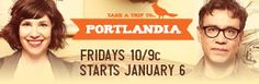 Portlandia is quite possibly my favorite show. It's on IFC. Season two just started. Check it out if you can.