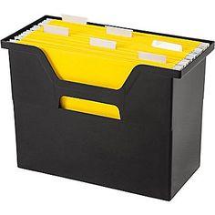 Staples® Large Open Top File Box, Black (103415)