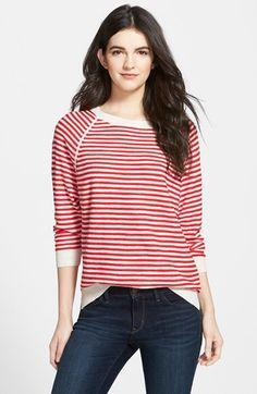 Treasure&Bond Treasure&Bond Stripe Raglan Sweater available at #Nordstrom