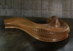 Wood Bench by Matthias Pliessnig