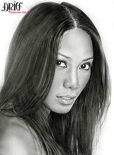 """""""Anggun"""", a drawing of Anggun Cipta Sasmi by riefra on DeviantArt"""